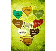 What my #Tea says to me - February 12, 2014 Poster Photographic Print