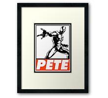Spider-Man Pete Obey Design Framed Print