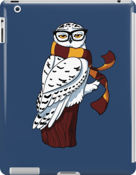 Hipster Owl by Stephanie Jayne Whitcomb