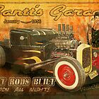 Gantt's Garage Open All Night Tin Sign by ChasSinklier
