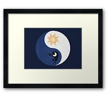 Celestia and Luna Yin Yang Framed Print