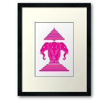 Pink Erawan Lao / Laos Three Headed Elephant Framed Print