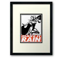 Storm Make It Rain Obey Design Framed Print