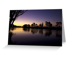Sardine Flat on the Tambo River Greeting Card