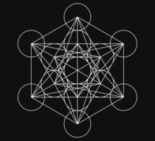 Metatron's Cube [White] | Sacred Geometry by SirDouglasFresh