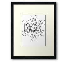 Metatron's Cube   Sacred Geometry Framed Print