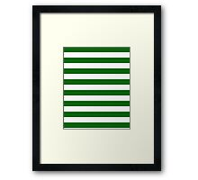 Green and White Hoops Banded Design Framed Print