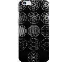 13 Circles [White] | Sacred Geometry iPhone Case/Skin