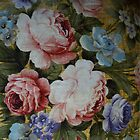 Old Roses - duvet cover by Gilberte
