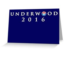 House of Cards - Underwood 2016 Greeting Card