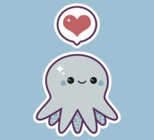 Cute Blue Octopus Kids Clothes