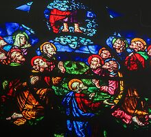 Ascent of Jesus to Heaven Cathedral St Etienne Chalons sur Marne France 198405060070 by Fred Mitchell