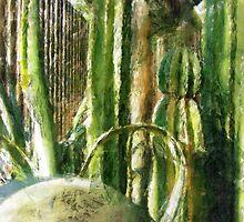 Cactus Garden Sketchy by Christopher Johnson