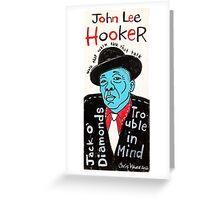 John Lee Hooker Blues Folk Art Greeting Card