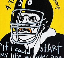 Jack Lambert Steelers Football Folk Art by krusefolkart