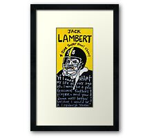 Jack Lambert Steelers Football Folk Art Framed Print