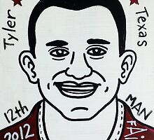 Johnny Manziel Aggie Football Folk Art by krusefolkart