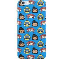 Space Dandy, Meow & QT Pattern iPhone Case/Skin