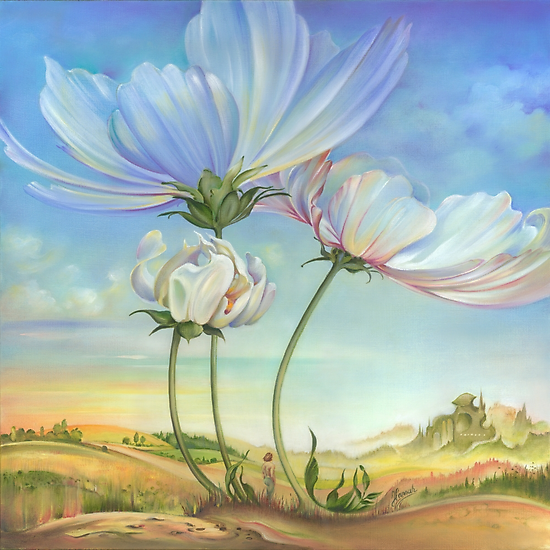 In the Half-shadow of Wild Flowers by Anna Miarczynska