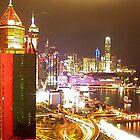 Hong Kong by Night by VariouspixPhoto