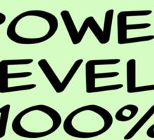 Power Levels 100% Sticker