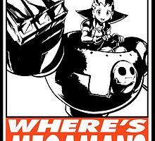 Tron Bonne Where's Megaman? Obey Design by SquallAndSeifer