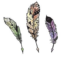 Watercolor Quill design by Dalal Semprun