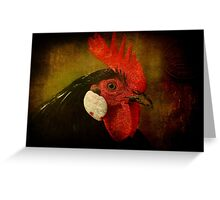 Rocky Rooster Greeting Card
