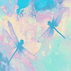 Blue Painting Dragonflies by Vitta