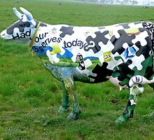 Jigsaw Puzzle Cow by Margaret  Hyde