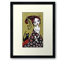 Powder Puff Red Framed Print