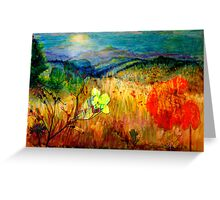 At the Edge of Dreaming Fields Greeting Card
