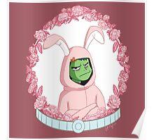 Beast Boy in a bunny suit (Portrait) Poster