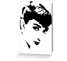 Audrey Hepburn Gives A Look Greeting Card