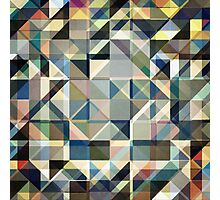 Abstract Earth Tone Grid Photographic Print