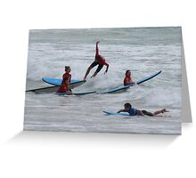 Surfing Aus Style Greeting Card