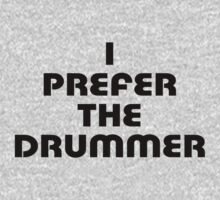 Rock Shirt - I Prefer The Drummer - White Top Kids Clothes