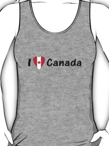 J'aime Canada - I Love Canada with Maple Leaf T-shirt & Top T-Shirt