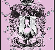 "Mozart and Marie ""Marie Antoinette Pink Treasure Chest Heraldry Portrait"" by MozartandMarie"