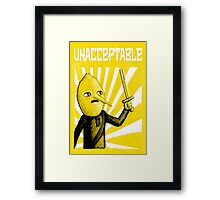 Unacceptable, 2014 Framed Print