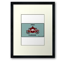 "Mozart and Marie ""Free Carriage Parking"" Mozopoly Framed Print"