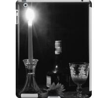 Candle light Drinking B&W iPad Case/Skin