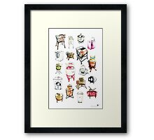 Washing machines Framed Print