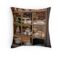 Old World Storefront Window   ^ Throw Pillow