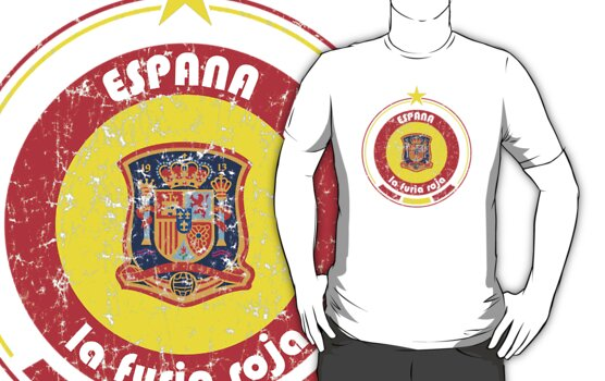 World Cup Football 8/8 - Team Espana (distressed) by madeofthoughts