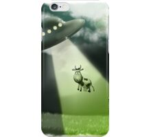 Comical UFO Cow Abduction iPhone Case/Skin