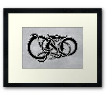 Viking Dragon in black Framed Print