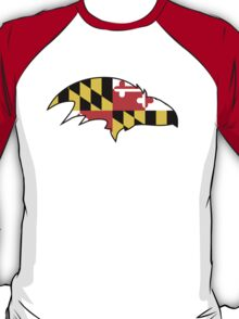 Raven with Maryland Flag T-Shirt