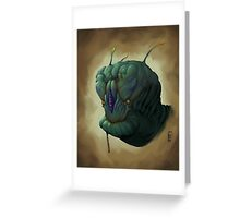 The Green Alien Greeting Card