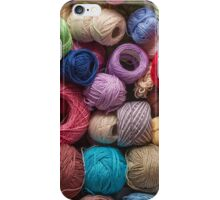 Colorful balls of wool iPhone Case/Skin